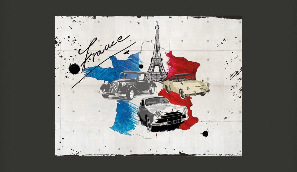 Fotomurale - Admirer Of Cars France 200X154Cm Carta Da Parato Erroi
