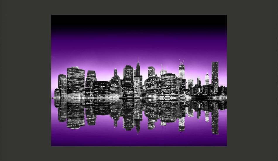 Fotomurale - The Big Apple In Purple Color 200X154Cm Carta Da Parato Erroi