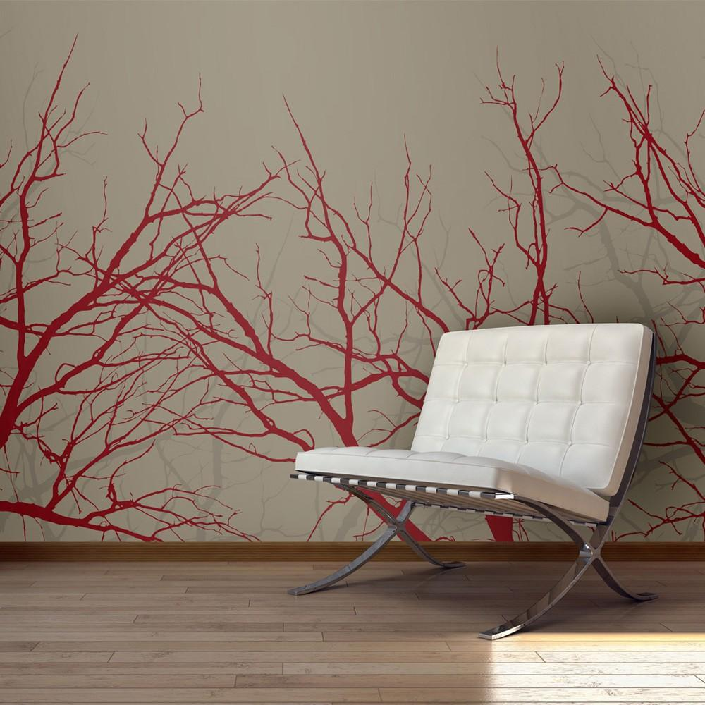 Fotomurale - Red-Hot Branches 200X154Cm Carta Da Parato Erroi