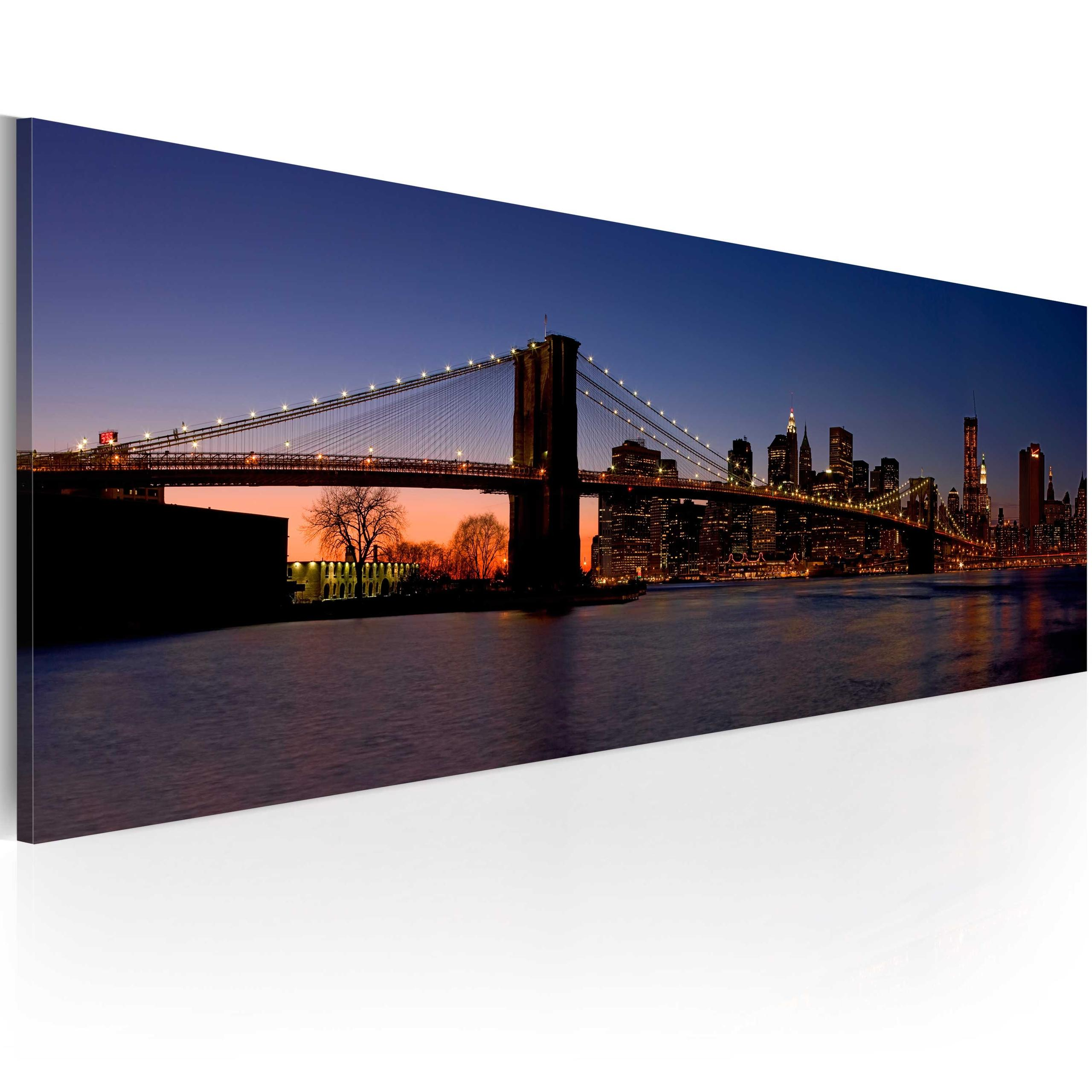Quadro - Ponte Di Brooklyn - Panorama 120X40Cm Erroi