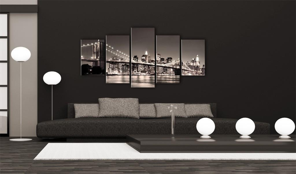 Quadro - Manhattan: Ponte Di Brooklyn Ii 100X50Cm Erroi