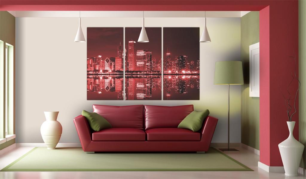 Quadro - Chicago In Colori Intriganti 120X80Cm Erroi