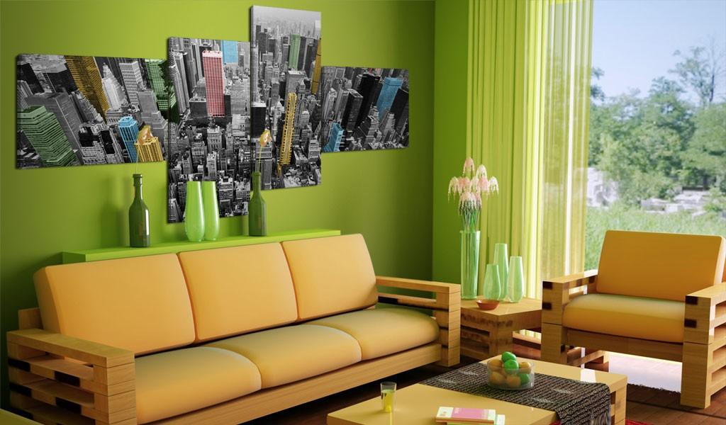Quadro - New York In Un Arrangiamento Sorprendente 100X45Cm Erroi