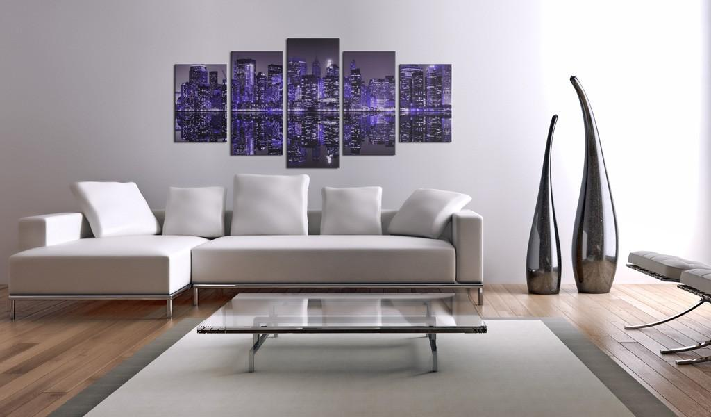Quadro - Deep Deep Purple - Nyc 100X50Cm Erroi