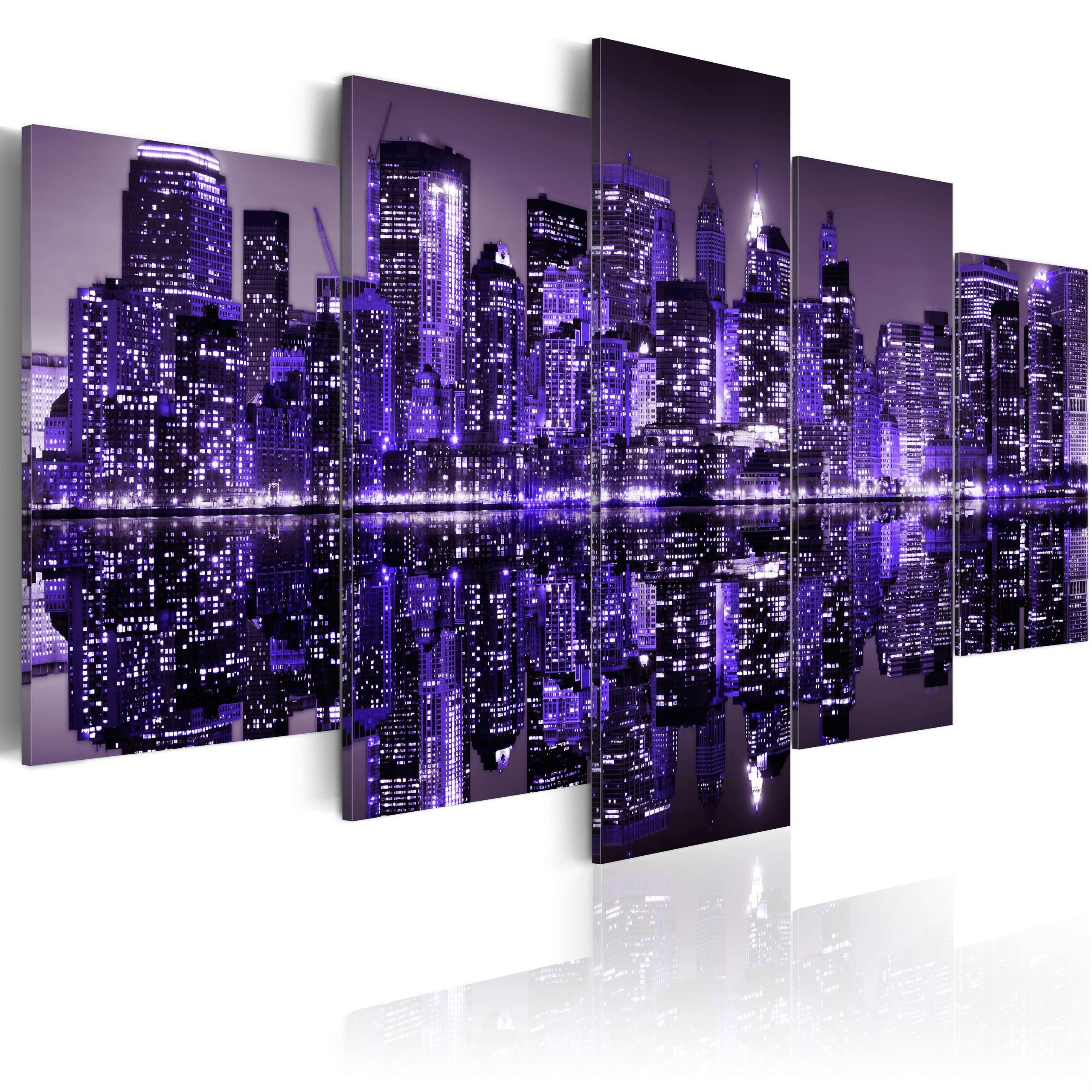 Quadro - Deep Deep Purple - Nyc 200X100Cm Erroi