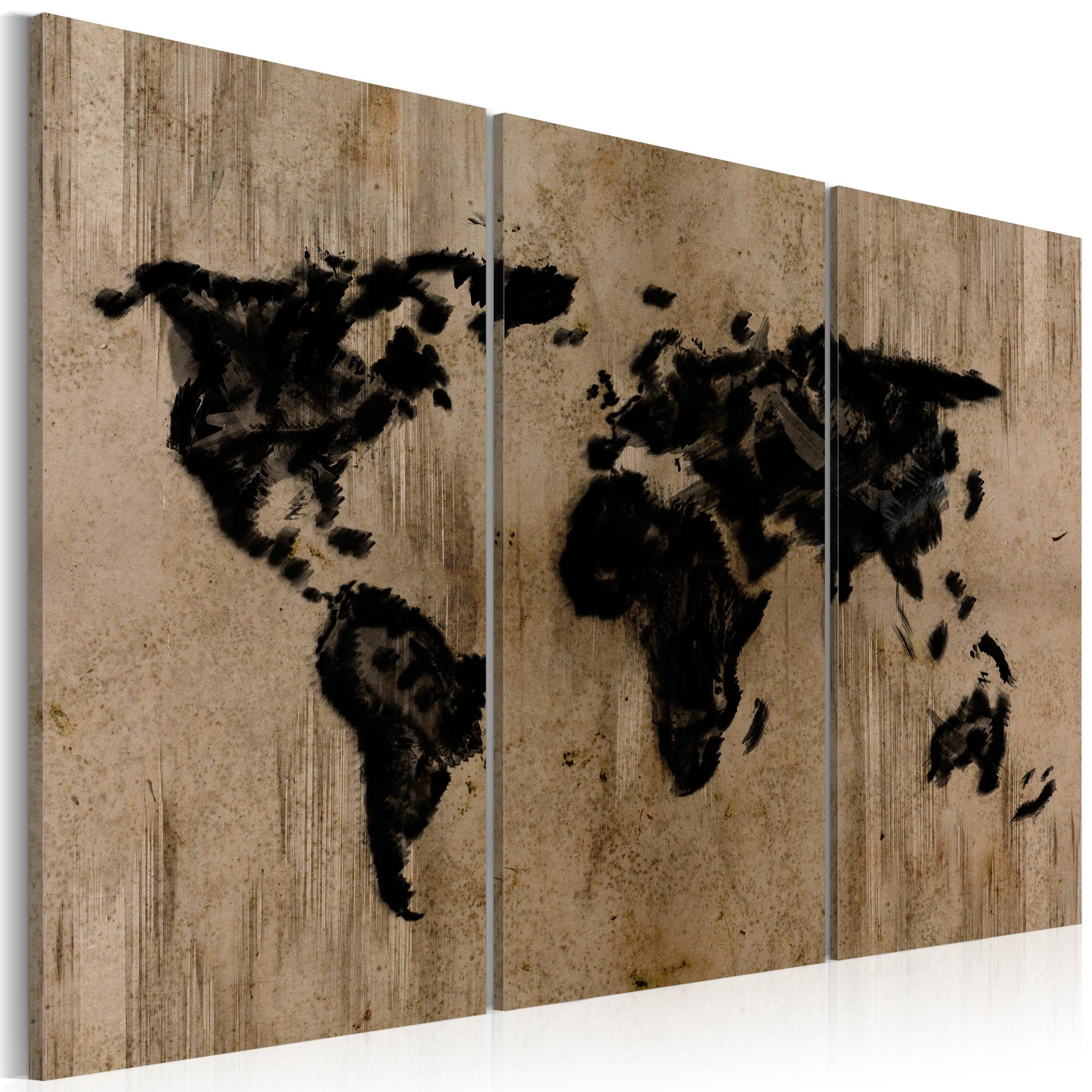 Quadro - Mysterious Map Of The World 120X80Cm Erroi