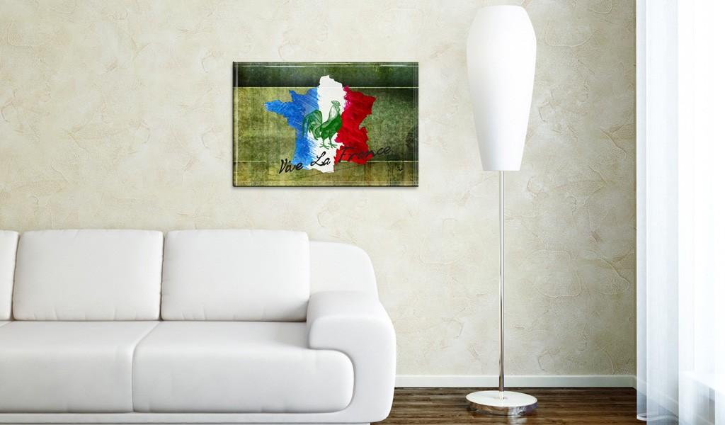 Quadro - Vive La France 60X40Cm Erroi