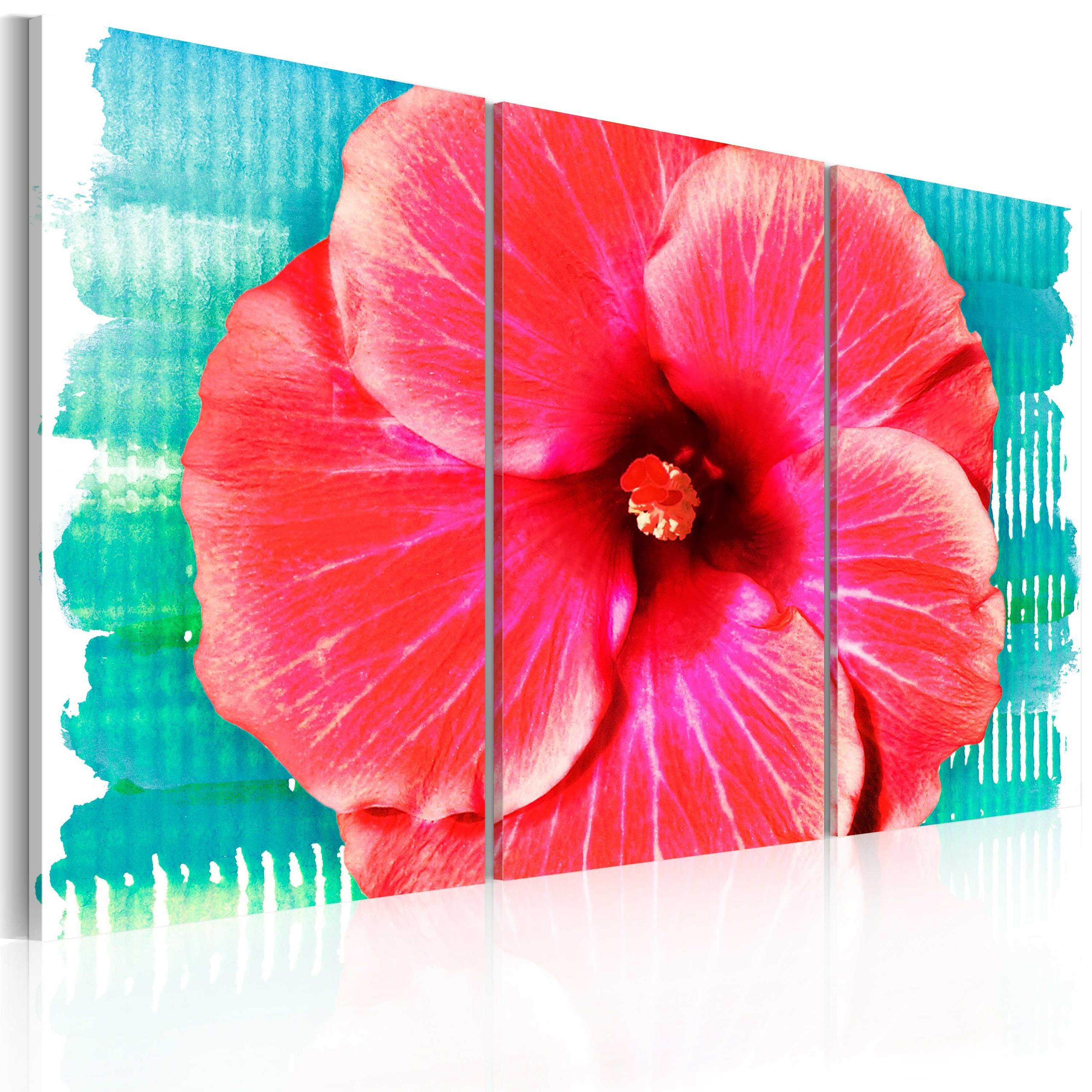 Quadro - Hawaiian Flower - Triptych 60X40Cm Erroi