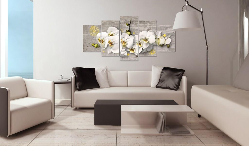 Quadro - Sunny Orchids - 5 Pieces 200X100Cm Erroi