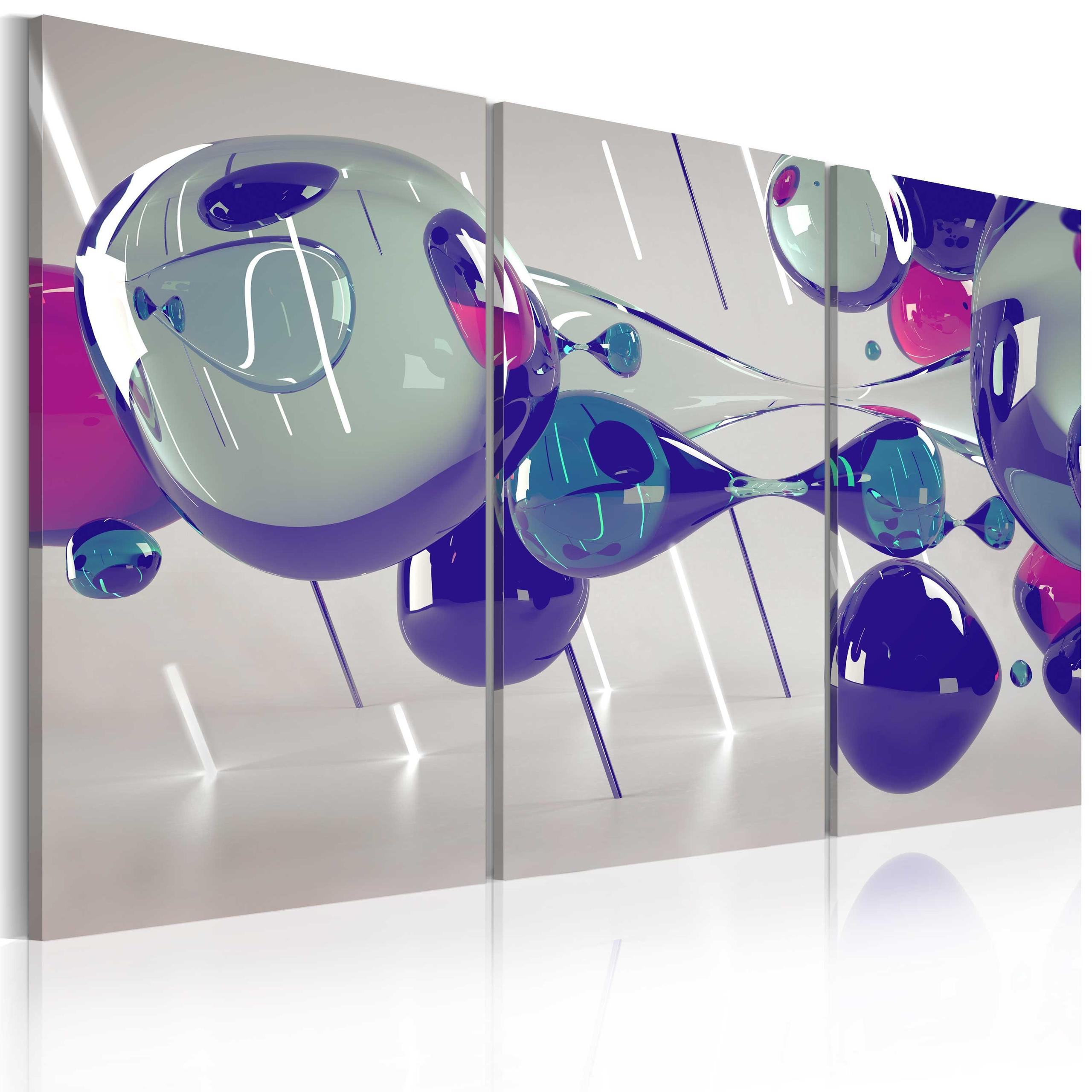 Quadro - Glass Bubbles - Triptych 60X40Cm Erroi