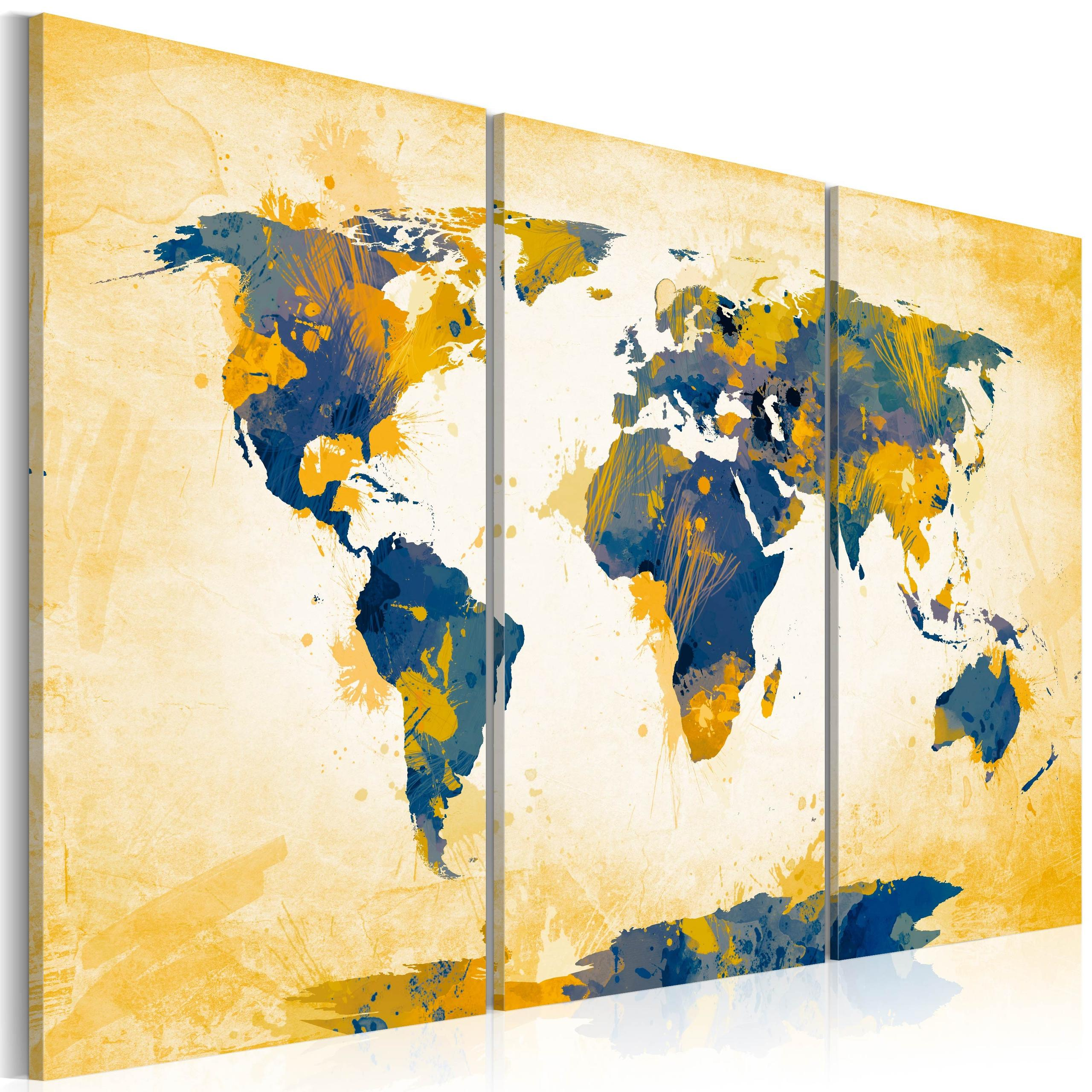 Quadro - Four Corners Of The World - Triptych 60X40Cm Erroi