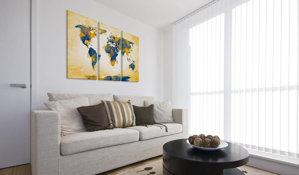 Quadro - Four Corners Of The World - Triptych 120X80Cm Erroi