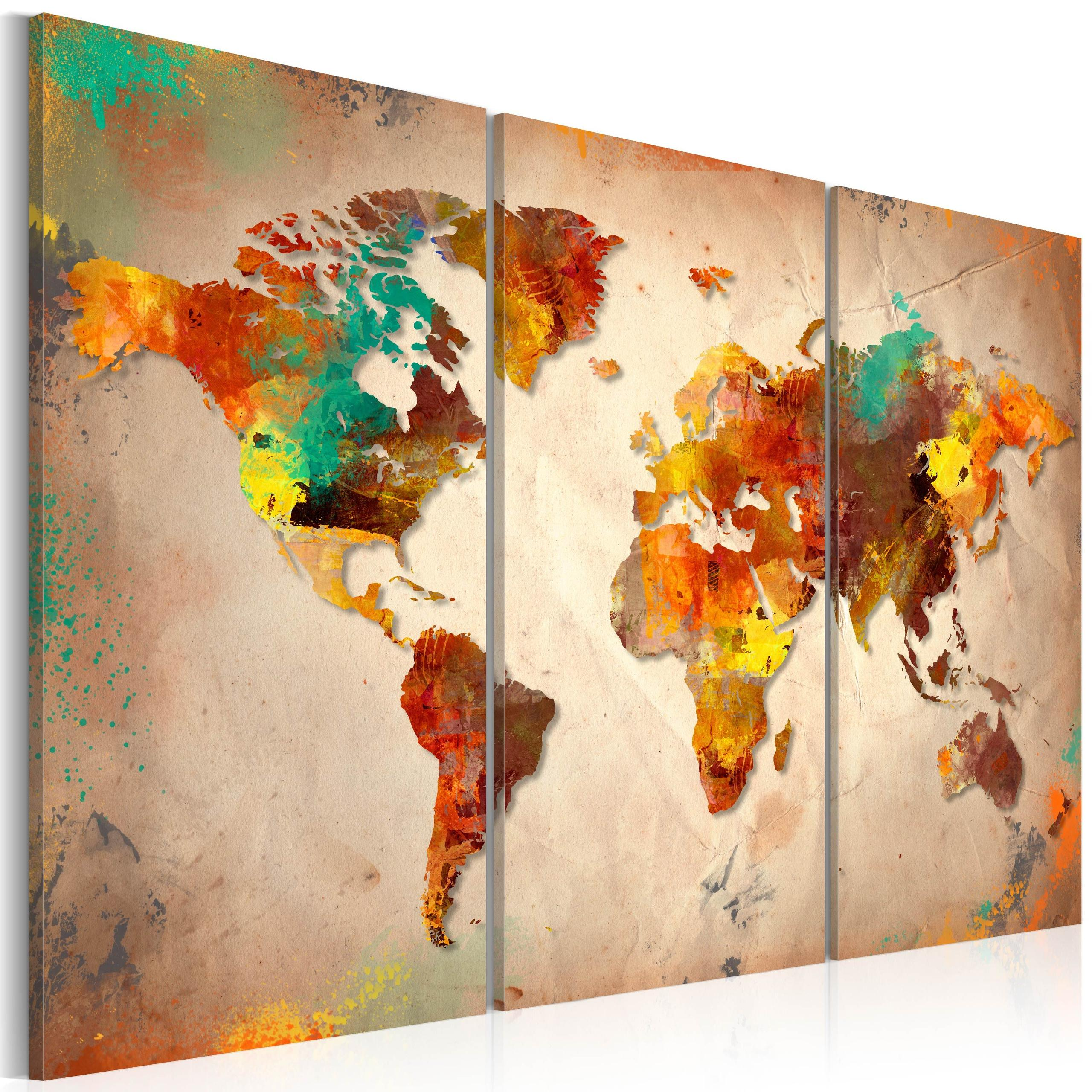 Quadro - Painted World - Triptych 120X80Cm Erroi