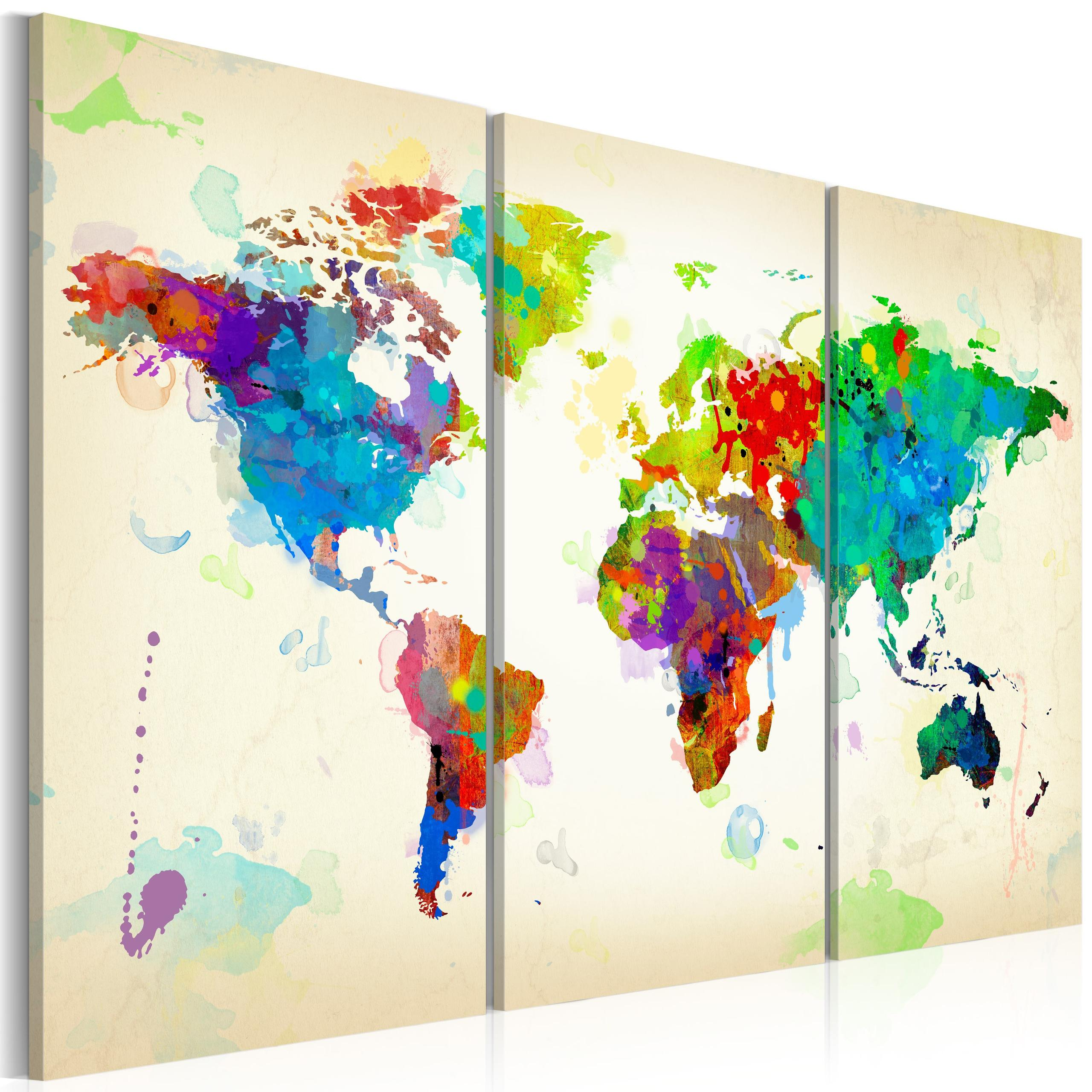 Quadro - All Colors Of The World - Triptych 120X80Cm Erroi