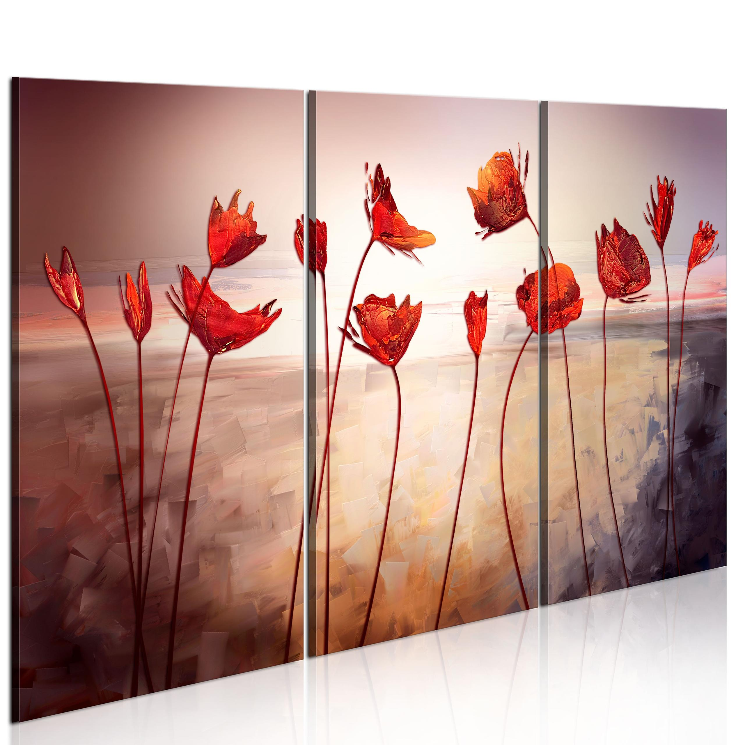 Quadro - Bright Red Poppies 60X40Cm Erroi