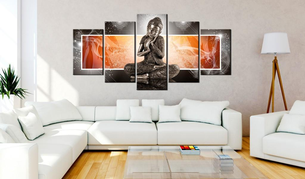 Quadro - Buddha And Ornaments 100X50Cm Erroi