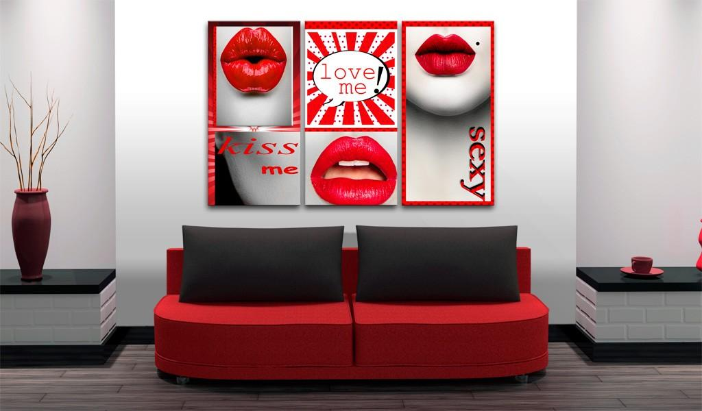 Quadro - Kiss Me! Love Me! 120X80Cm Erroi