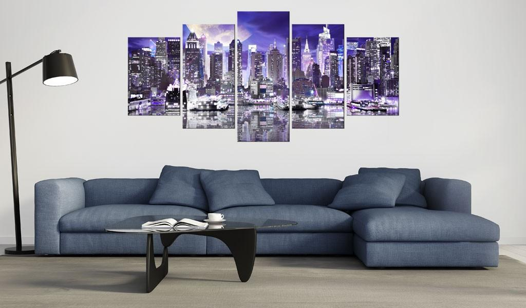 Quadro - Notte Di Luna A New York City 200X100Cm Erroi