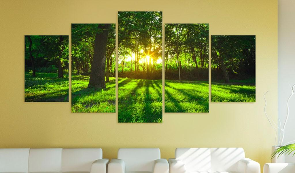 Quadro - Morning In The Forest 200X100Cm Erroi