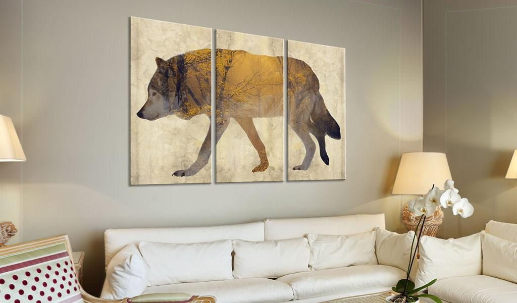 Quadro - The Wandering Wolf 120X80Cm Erroi