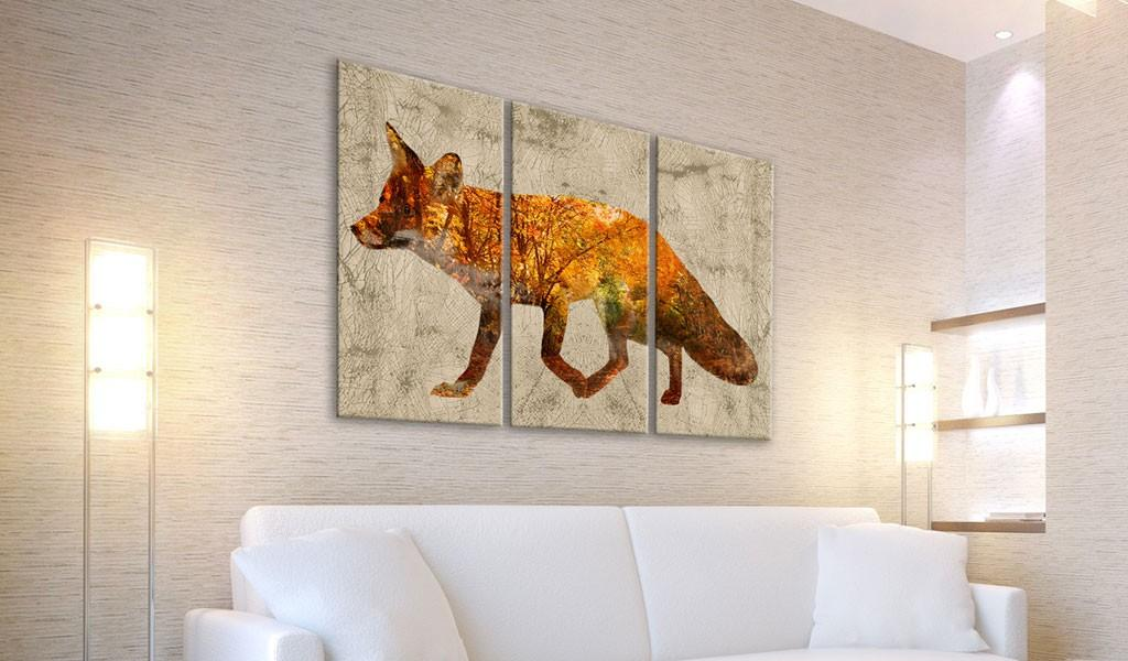Quadro - Fox In The Wood 60X40Cm Erroi