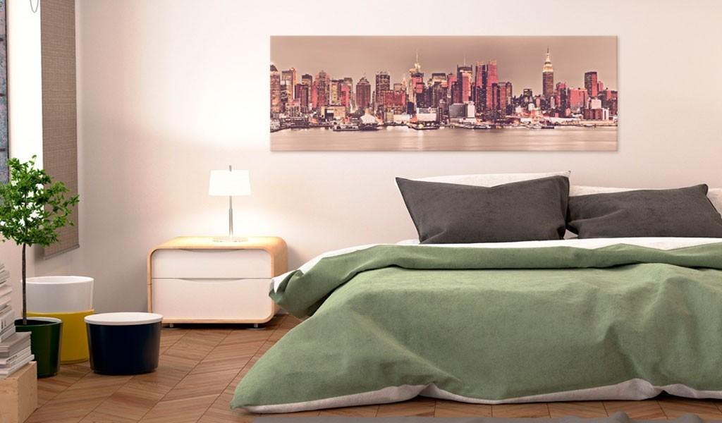 Quadro - New York - City Of Light 135X45Cm Erroi