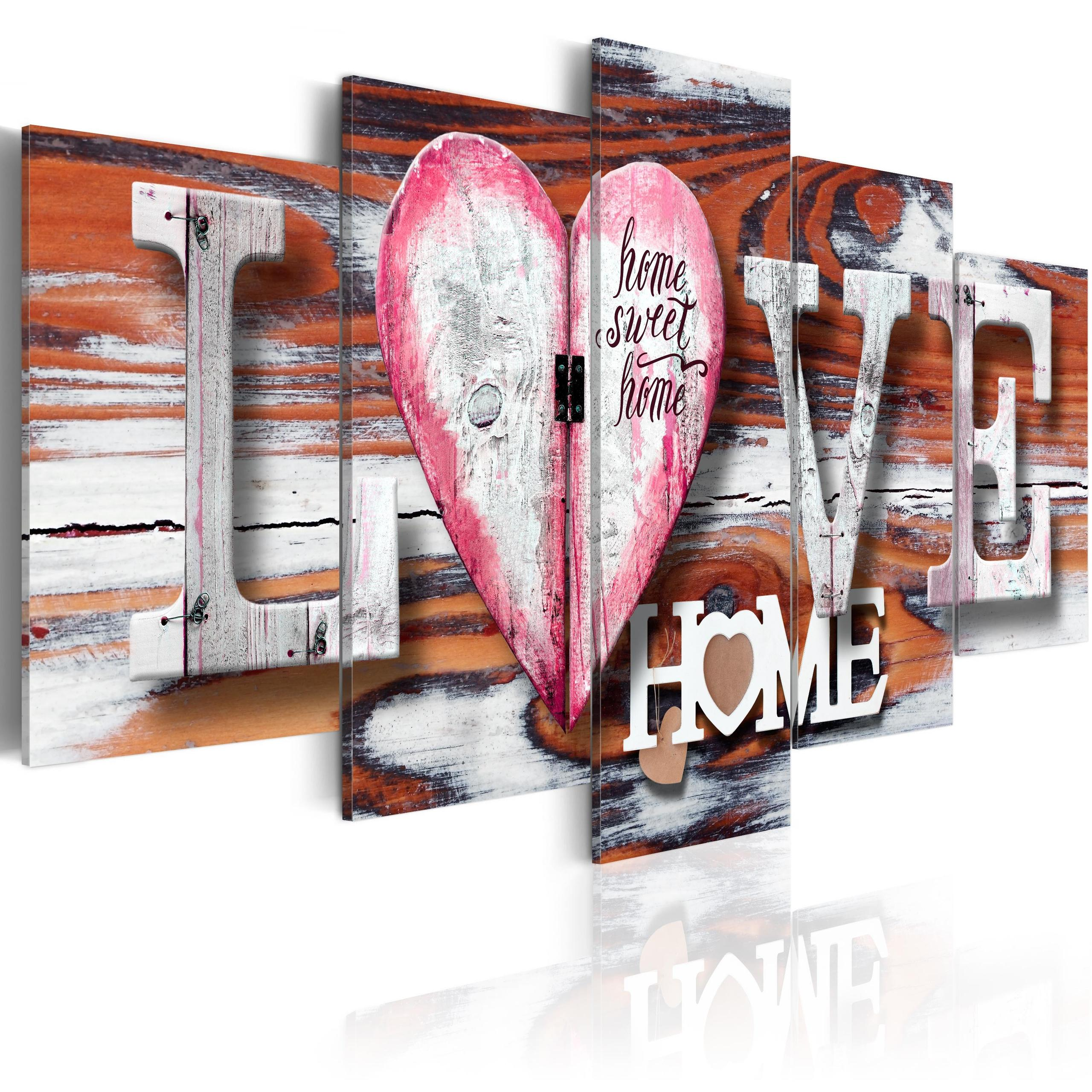 Quadro - Love Home 200X100Cm Erroi
