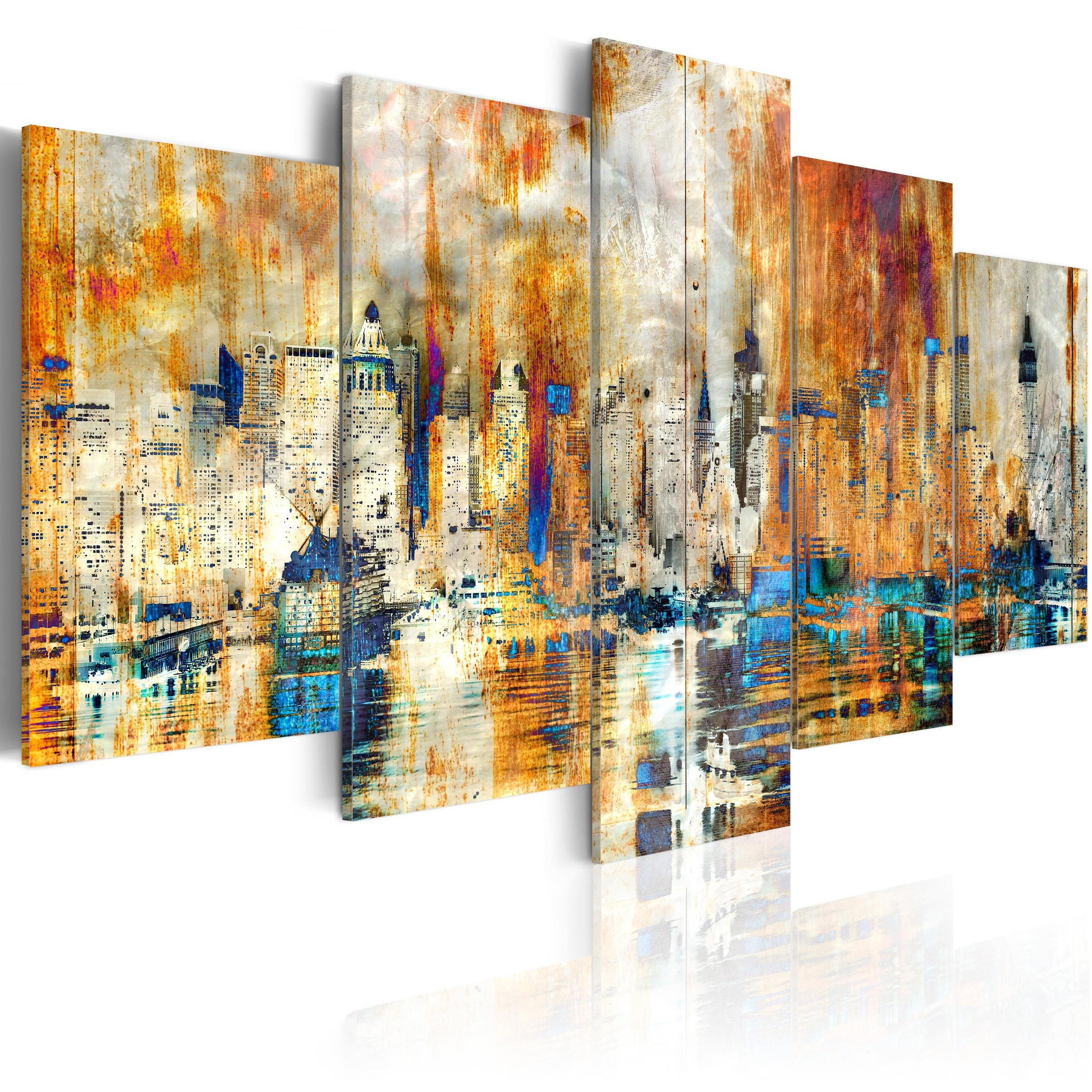 Quadro - Memory Of The City 100X50Cm Erroi