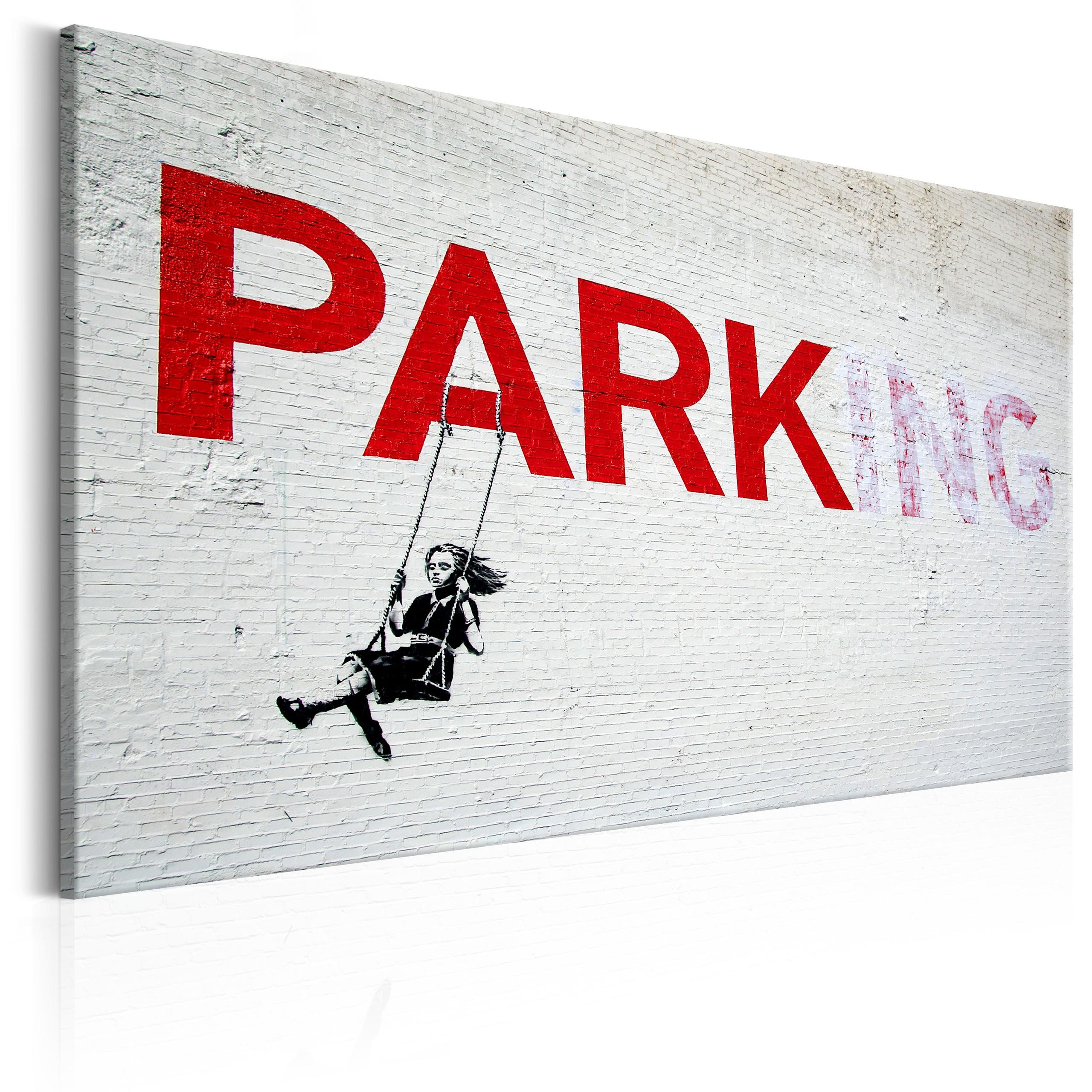 Quadro - Parking Girl Swing By Banksy 60X40Cm Erroi