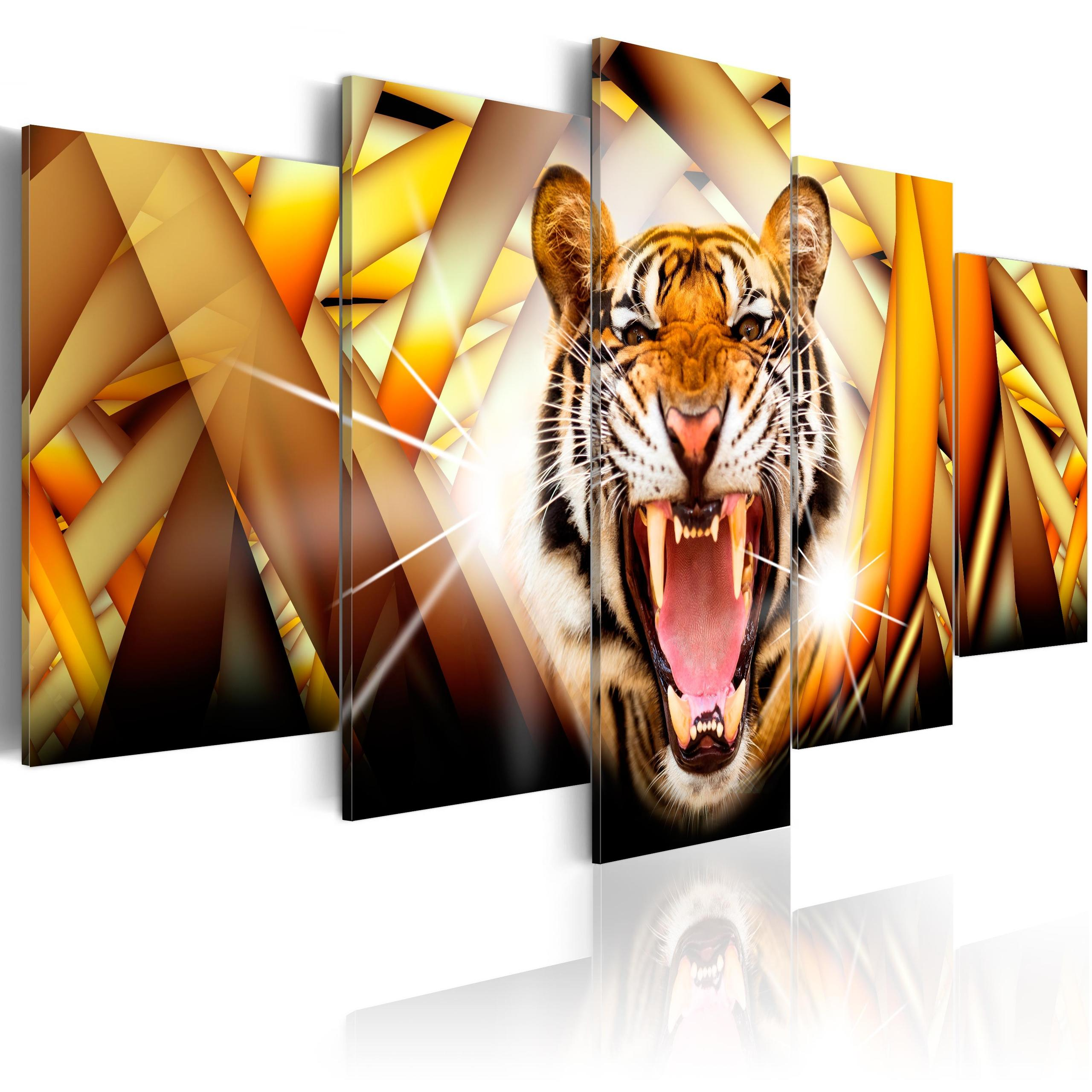 Quadro - Energy Of Tiger 200X100Cm Erroi