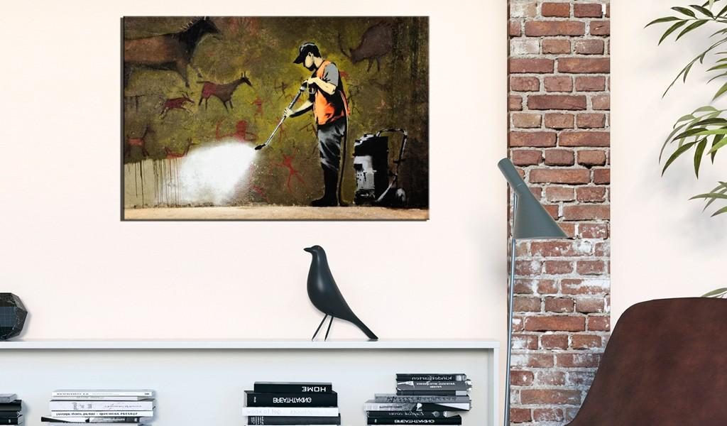Quadro - Cave Painting By Banksy 90X60Cm Erroi