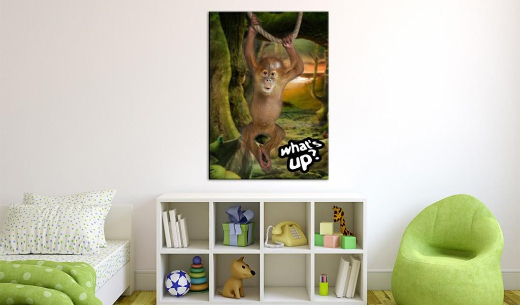 Quadro - Little Monkey 50X70Cm Erroi