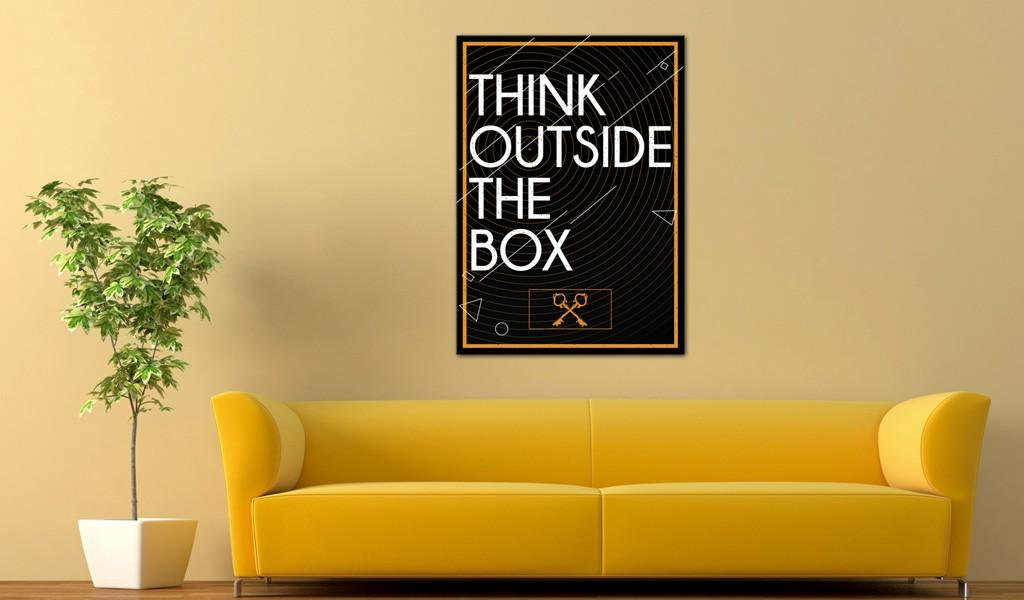 Quadro - Think Outside The Box 50X70Cm Erroi