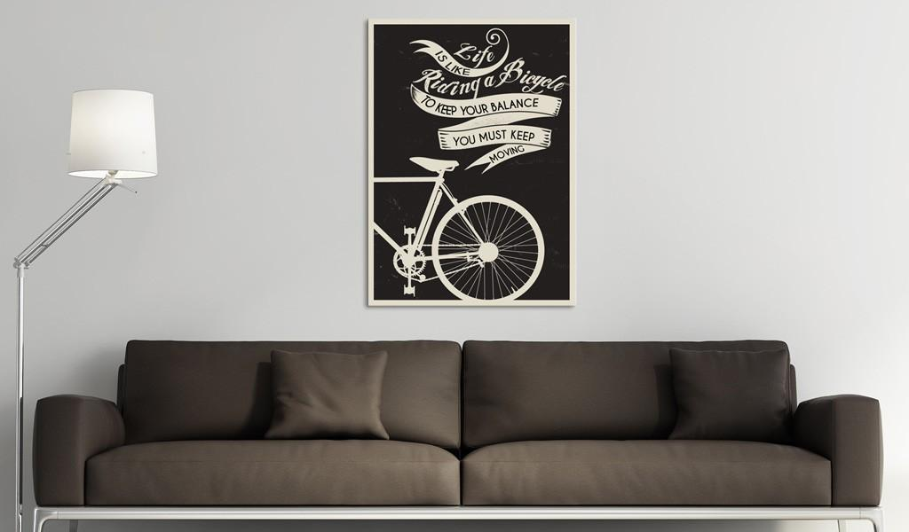 Quadro - Life Is Like Riding A Bicycle 50X70Cm Erroi