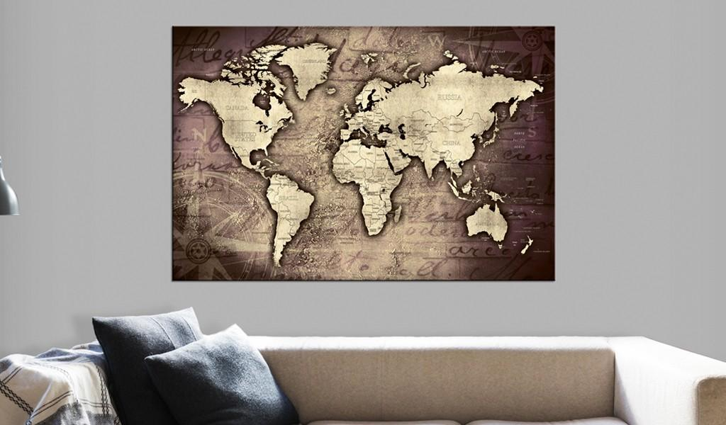 Quadro Di Sughero - Precious World [Cork Map] 90x60cm Erroi