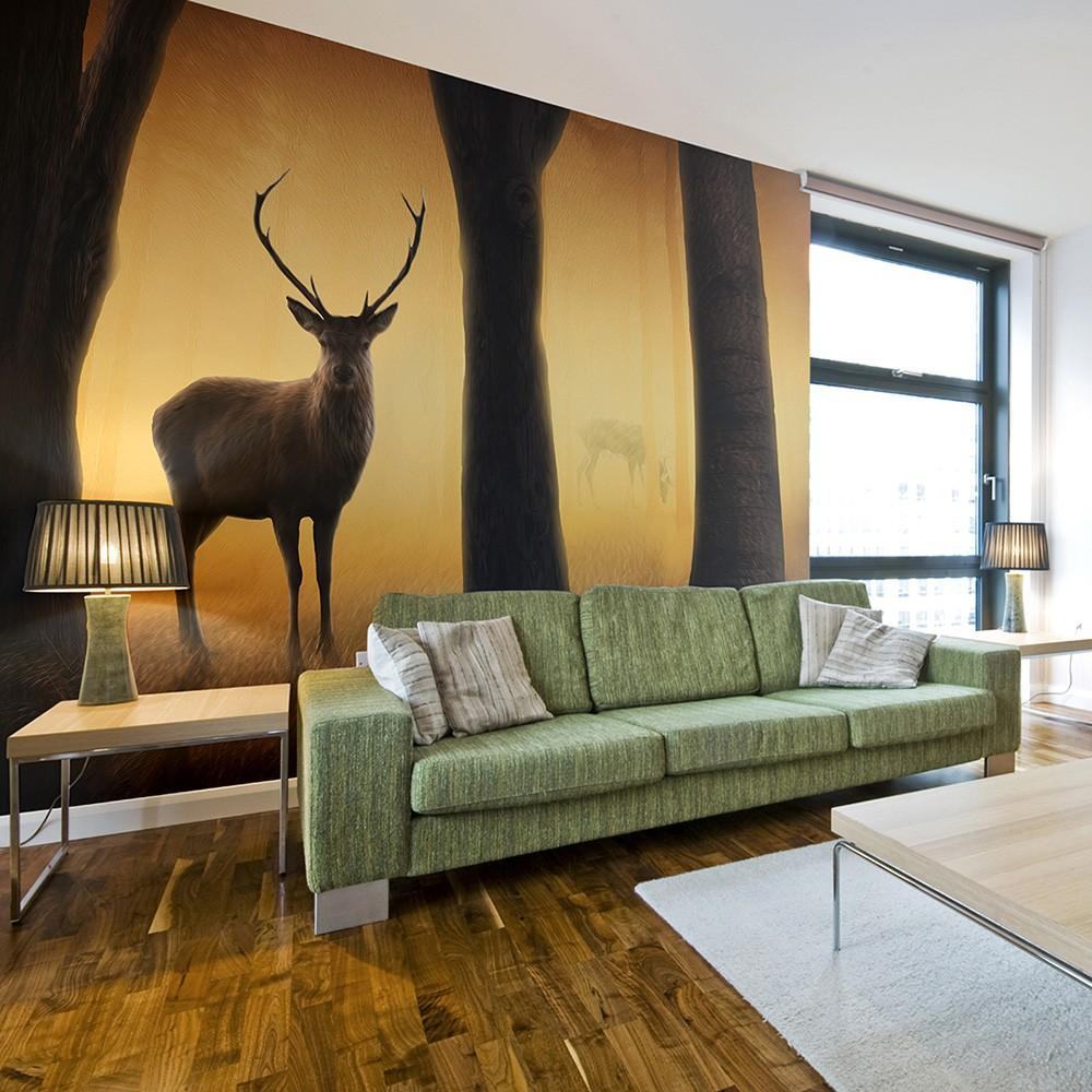 Fotomurale - Deer In His Natural Habitat 250X193Cm Carta Da Parato Erroi