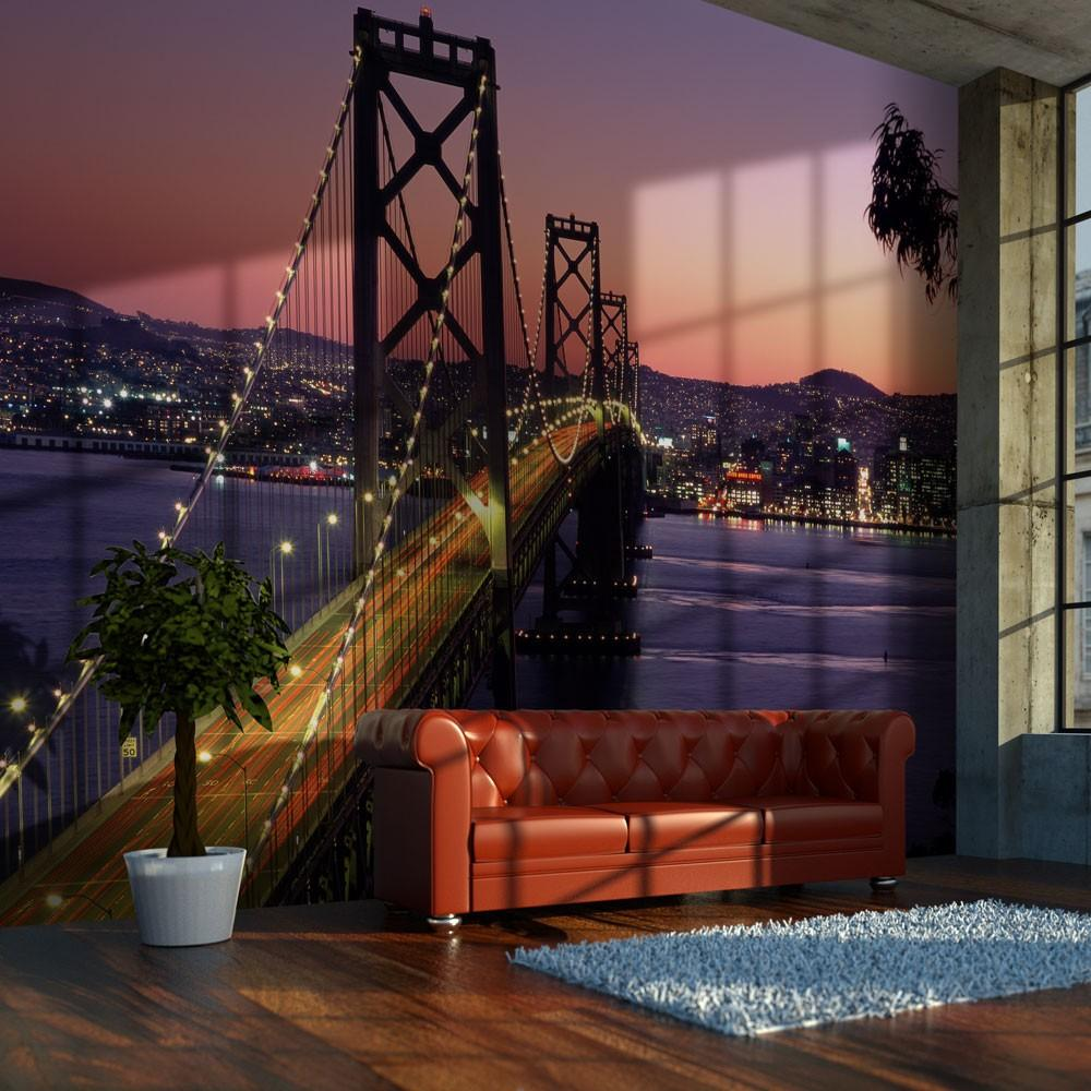 Fotomurale - Charming Evening In San Francisco 250X193Cm Carta Da Parato Erroi