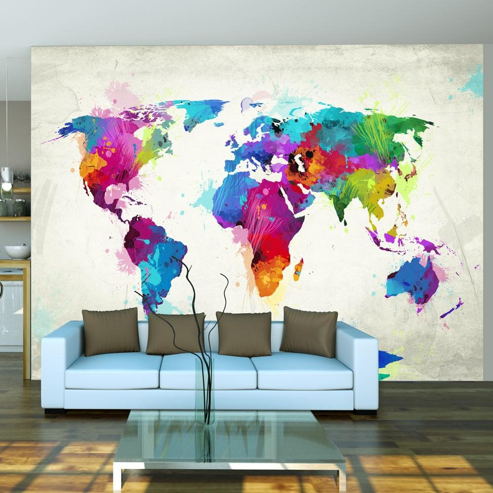 Fotomurale - The Map Of Happiness 250X193Cm Carta Da Parato Erroi