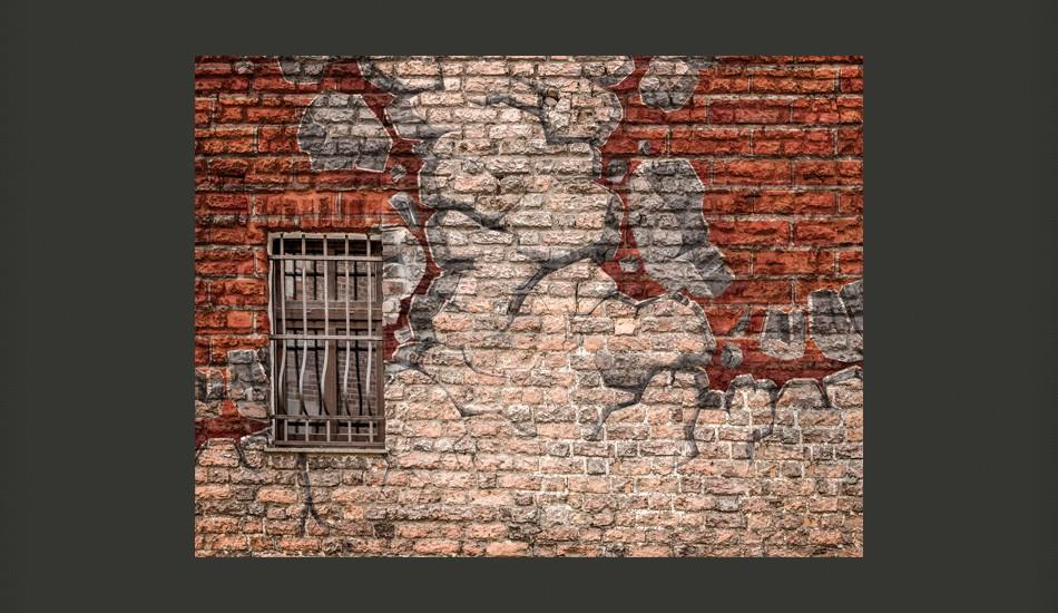 Fotomurale - Break The Wall 300X231Cm Carta Da Parato Erroi