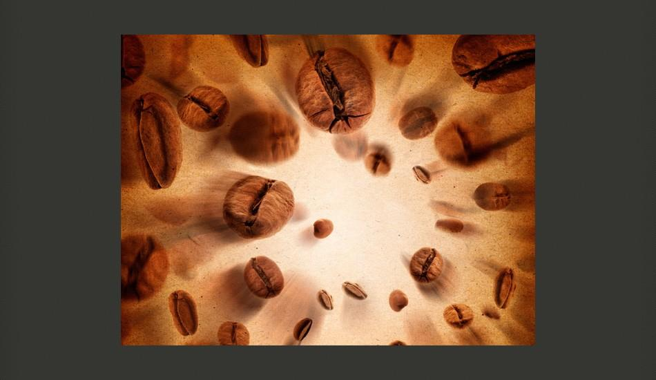 Fotomurale - Flying Coffee Beans 300X231Cm Carta Da Parato Erroi
