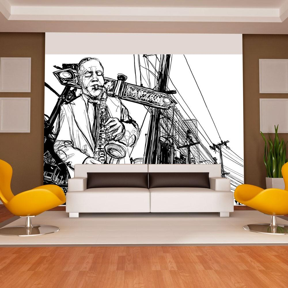 Fotomurale - Saxophone Recital On Broadway 300X231Cm Carta Da Parato Erroi