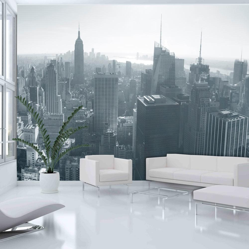 Fotomurale - Panorama Di New York In Bianco E Nero 300X231Cm Carta Da Parato Erroi