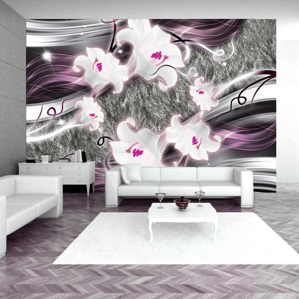 Fotomurale - Dance Of Charmed Lilies 300X210Cm Carta Da Parato Erroi
