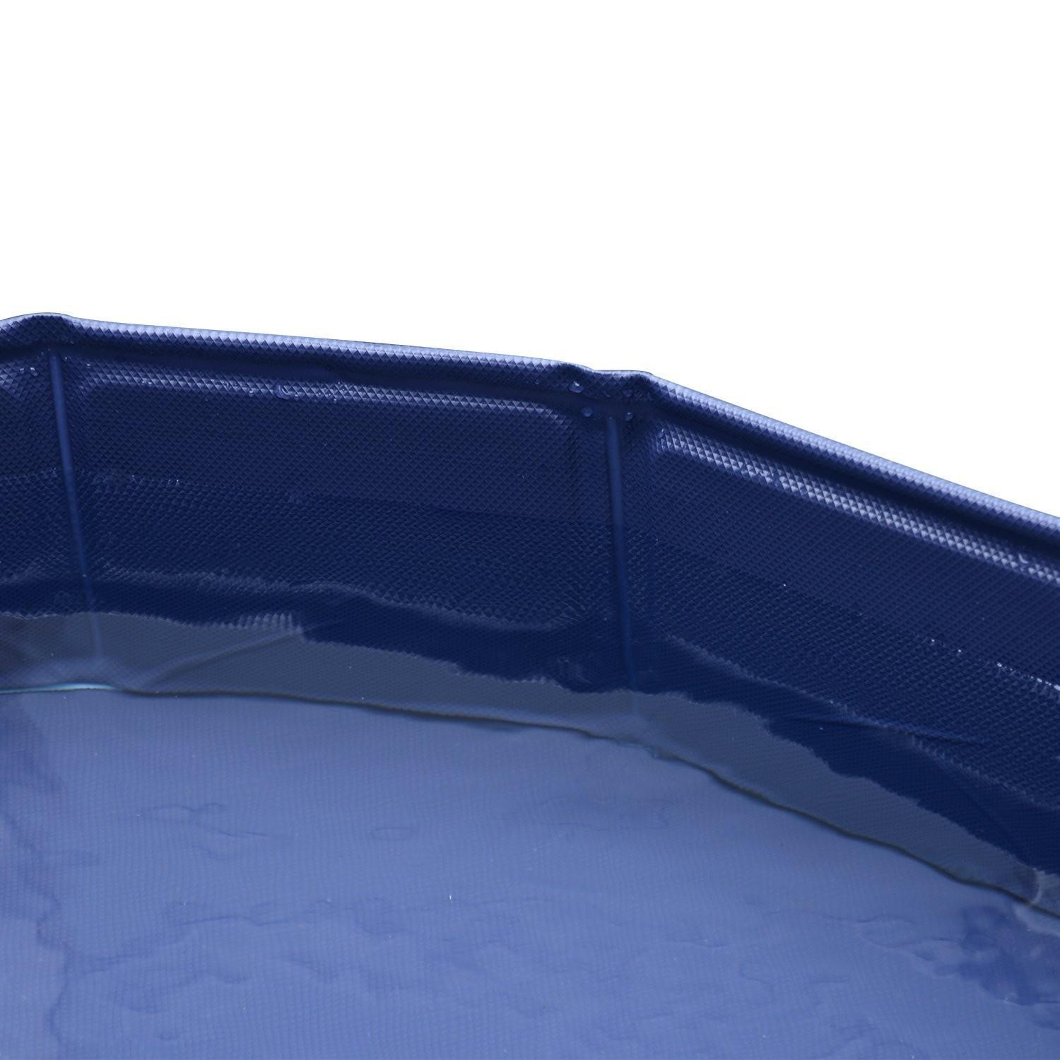 Piscina per Animali Domestici in Plastica Bordo Stabile Ø160x30 cm Rossa Riotti