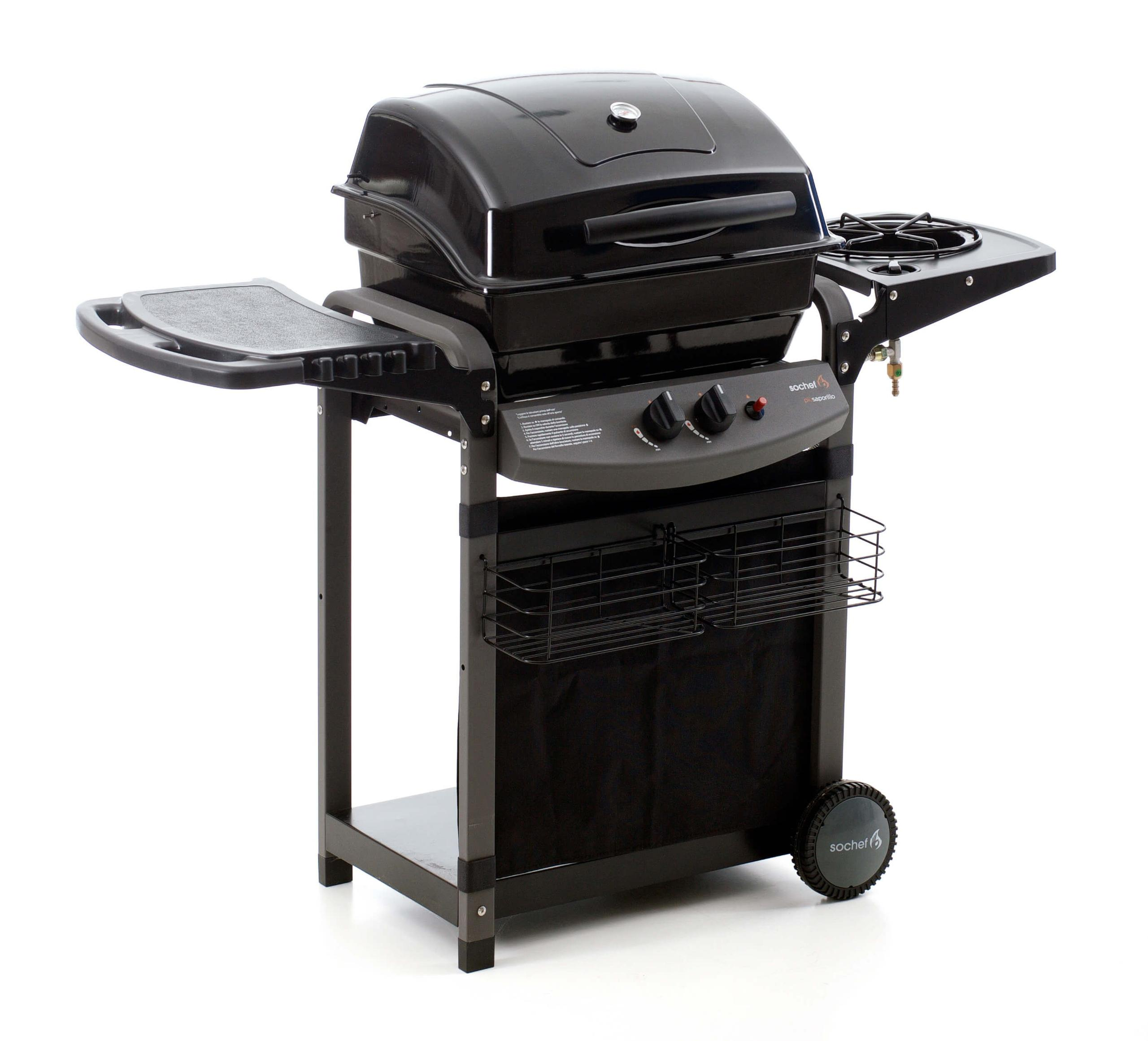 Barbecue a gas sistema roccia lavica con fornello laterale for Giordano shop barbecue a gas