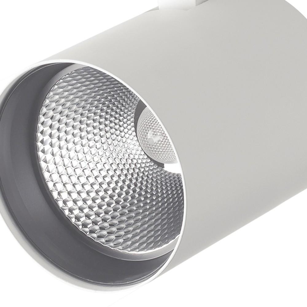 Binario Alluminio Pressofuso Bianco Faretto Led 10 watt Luce Calda Intec LED-EAGLE-W-10WC