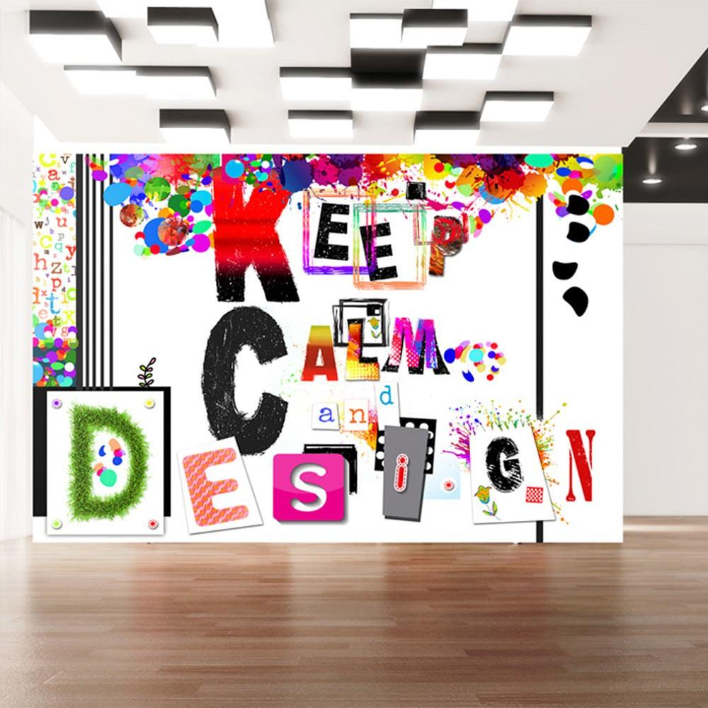 Fotomurale - Keep Calm And Design Carta Da Parato Erroi