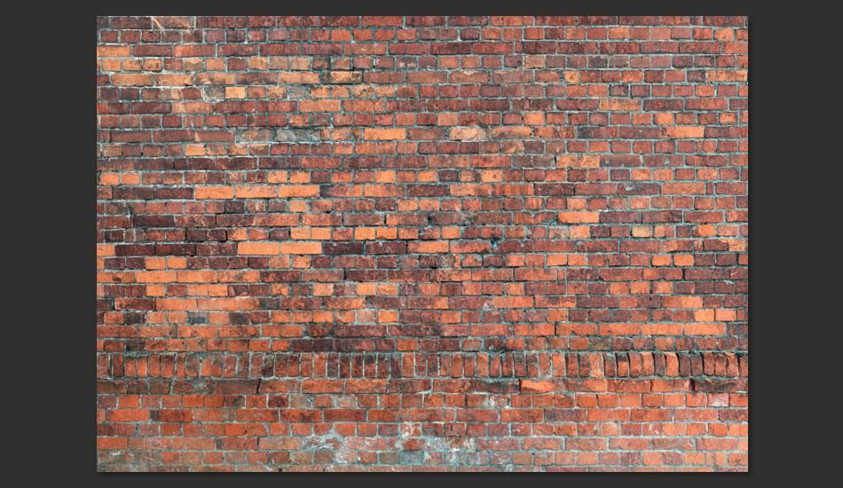 Fotomurale - Vintage Wall Red Brick Carta Da Parato Erroi