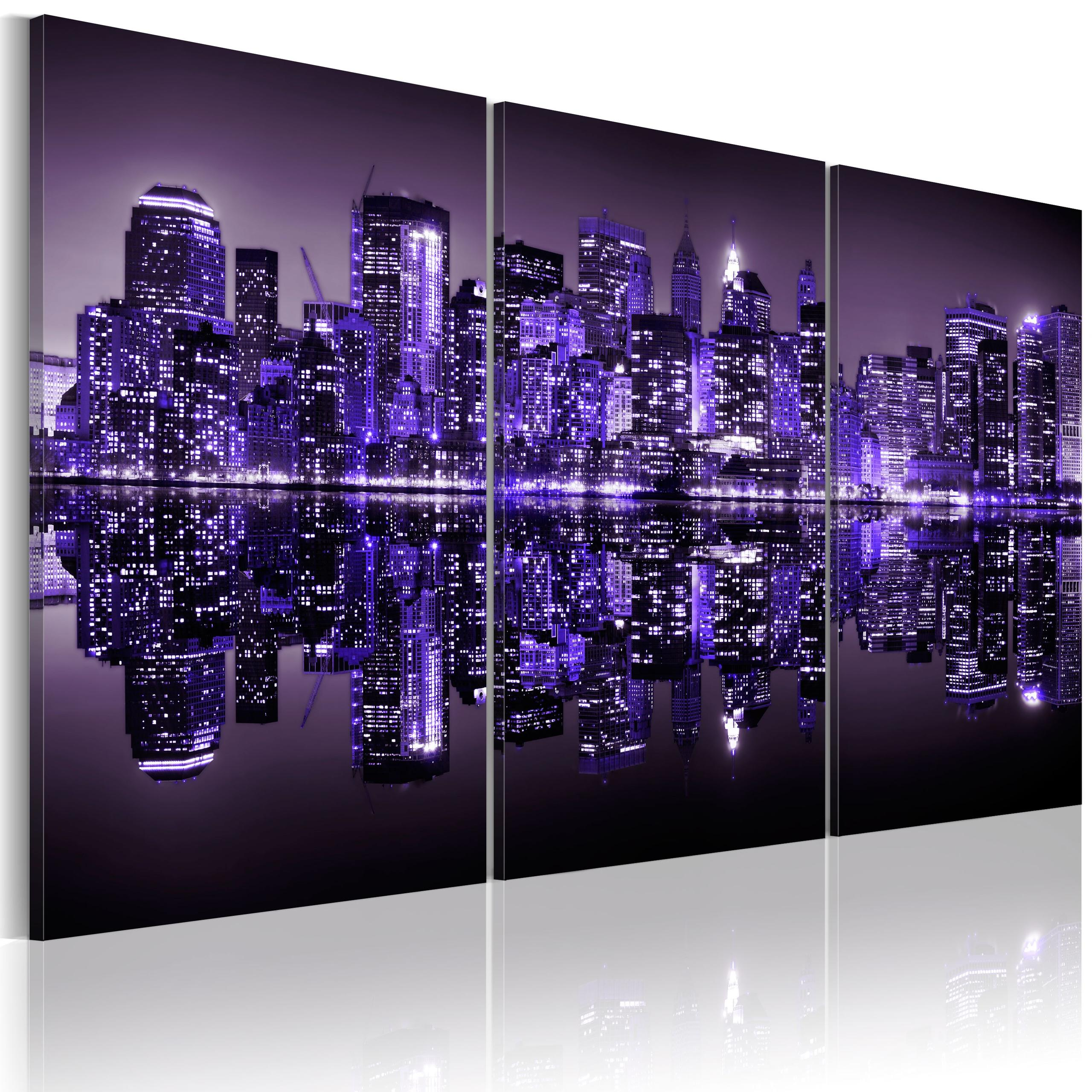 Quadro - Viola Elettrizzante Di New York Erroi