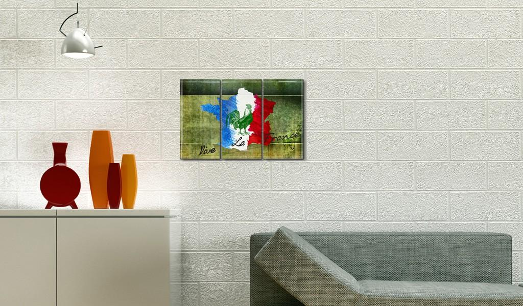 Quadro - Vive La France - Trittico Erroi